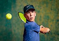 Hilversum, Netherlands, August 6, 2018, National Junior Championships, NJK, Daan van Heezik - Sverre Bakker<br /> Photo: Tennisimages/Henk Koster