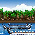 Snake boat racing in Onam festival, Kerala, India