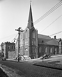 Pittsburgh PA:  View of the 43rd Street Presbyterian Church in Lawrenceville. Could not find any information on what happened to the church. I believe the congregation merged with another church and the building was demolished.
