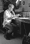 Jeff Nelson in the Dischord Records office. Arlington, VA 1982