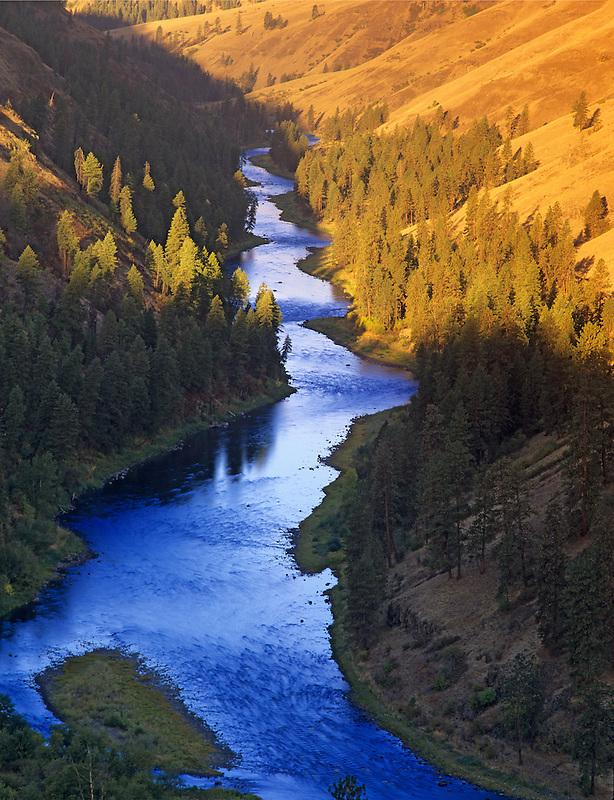 Sunrise on Grande Ronde River. Near Troy, Oregon