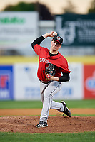 Erie SeaWolves Kyle Funkhouser (36) delivers a pitch during a game against the Binghamton Rumble Ponies on May 14, 2018 at NYSEG Stadium in Binghamton, New York.  Binghamton defeated Erie 6-5.  (Mike Janes/Four Seam Images)