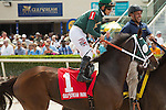 HALLANDALE BEACH, FL- APRIL 02: #1 Paola Queen with jockey Javier Castellano up on Post Parade for the Gulfstream Oaks at Gulfstream Park on April 02, 2016 in Hallandale Beach, Florida. (Photo by Arron Haggart/Eclipse Sportswire/Getty Images)