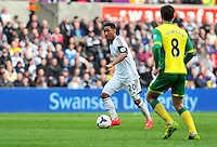 Swansea v Norwich, Liberty Stadium, Saturday 29th march 2014...<br /> <br /> <br /> <br /> Swansea's Jonathan De Guzman on the ball.