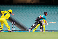 13th March 2020, Sydney Cricket Ground, Sydney, Australia;  Kane Williamson of the Blackcaps is bowled. International One Day Cricket. Australia versus New Zealand Blackcaps, Chappell–Hadlee Trophy, Game 1.