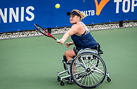 Amstelveen, Netherlands, 7 Augustus, 2021 National Tennis Center, NTC, NKR, National  Wheelchair Tennis Championships, Women's single final : Aniek van Koot (NED)<br /> Photo: Henk Koster/tennisimages.com