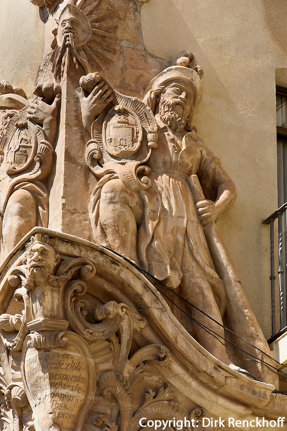 Casa de Corregidor, 18.-20. Jh. in Lorca,  Provinz Murcia, Spanien, Europa