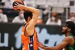 Liga ENDESA 2020/2021. Game: 11.<br /> Club Joventut Badalona vs Valencia Basket: 80-91.<br /> Nikola Kalinic vs Shawn Dawson.
