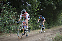 CX rider Philipp Walsleben (DEU/Beobank - Corendon) leading teh race in the first part of the 91st Schaal Sels 2016