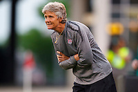 14 MAY 2011: USA Women's National Team head coach Pia Sundhage watches the match during the International Friendly soccer match between Japan WNT vs USA WNT at Crew Stadium in Columbus, Ohio.