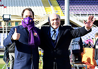 Football Soccer: Tim Cup Round of 16 Fiorentina - FC Internazionale Milano, Artemio Franchi  stadium, Florence, January 13, 2021. <br /> Fiorentina's owner, Italian American billionaire businessman Rocco Commisso (r) and his son US businessman Joseph Commisso (l) attend the Italian Cup (Coppa Italia) round of sixteen football match Fiorentina vs Inter Milan on January 13, 2021 at the Artemio-Franchi stadium in Florence. <br /> UPDATE IMAGES PRESS/Isabella Bonotto