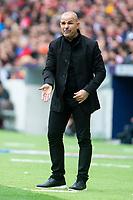 Levante coach Paco Lopez during La Liga match between Atletico de Madrid at Wanda Metropolitano in Madrid, Spain. April 15, 2018.  *** Local Caption *** © pixathlon<br /> Contact: +49-40-22 63 02 60 , info@pixathlon.de