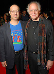 """As part of the Cinema Arts Festival Houston, Donald Sosin,at left, and Paul Reisler on the red carpet outside the Museum of Fine Arts Houston before a screening of Richard Linklater's """"Me and Orson Welles""""  Wednesday Nov. 11,2009. (Dave Rossman/For the Chronicle)"""