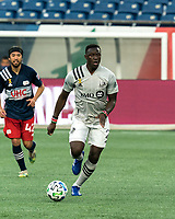 FOXBOROUGH, MA - SEPTEMBER 23: Victor Wanyama #2 of Montreal Impact looks to pass during a game between Montreal Impact and New England Revolution at Gillette Stadium on September 23, 2020 in Foxborough, Massachusetts.