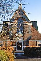 London: Hampstead Garden Suburb--Free Church, West elevation. Sir Edwin Lutyens. Photo '90.