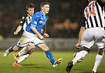St Mirren v St Johnstone...25.03.14    SPFL<br /> David Wotherspoon is closed down by Marc McAusland<br /> Picture by Graeme Hart.<br /> Copyright Perthshire Picture Agency<br /> Tel: 01738 623350  Mobile: 07990 594431