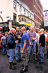 'GAYFEST MANCHESTER, UK', GAY 'SKINHEADS' WHO HAVE ADOPTED THE ANTI-GAY LOOK OF THE 1970'S, STANDING OUTSIDE THE 'REMBRANDT', 1999