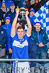 Templenoe captain Brian Crowley  lifts the cup after winning the  Munster Intermediate Championship final against St Breckan's in Mallow on Sunday