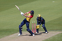 Paul Walter of Essex is bowled out by Andrew Salter during Glamorgan vs Essex Eagles, Vitality Blast T20 Cricket at the Sophia Gardens Cardiff on 13th June 2021