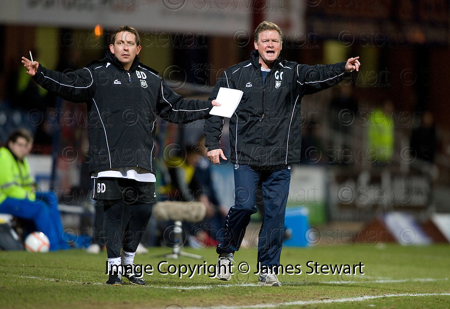 23/03/2010 Copyright  Pic : James Stewart.sct_jspa03_gordon_chisholm  .::  DUNDEE MANAGER GORDON CHISHOLM AND ASSISTANT BILLY DODDS  ::  .James Stewart Photography 19 Carronlea Drive, Falkirk. FK2 8DN      Vat Reg No. 607 6932 25.Telephone      : +44 (0)1324 570291 .Mobile              : +44 (0)7721 416997.E-mail  :  jim@jspa.co.uk.If you require further information then contact Jim Stewart on any of the numbers above.........