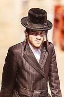 Israel,Jerusalem, orhodox jude man portrait at the Western Wall