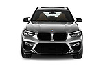 Car photography straight front view of a 2020 BMW X3 M-Competition 5 Door SUV Front View