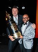 funny car, Camry, J.R. Todd, DHL, celebration, world champion, trophy, awards banquet, Toyota, staff