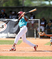 Manuel Vargas participates in an international showcase hosted by JDB Baseball at the Quality Baseball Academy on February 20, 2018 in Santo Domingo, Dominican Republic (Bill Mitchell)