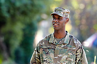 PORTRAIT, Male soldier, model-released, DoD-compliant for advertising, BLACK, AFRICAN AMERICAN,  <br /> <br /> Model-released stock photograph, DoD-compliant for advertising and promotion.  Reproduction requires paid license.