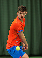 Rotterdam, The Netherlands, March 19, 2016,  TV Victoria, NOJK 14/18 years, Stijn Pel (NED)<br /> Photo: Tennisimages/Henk Koster