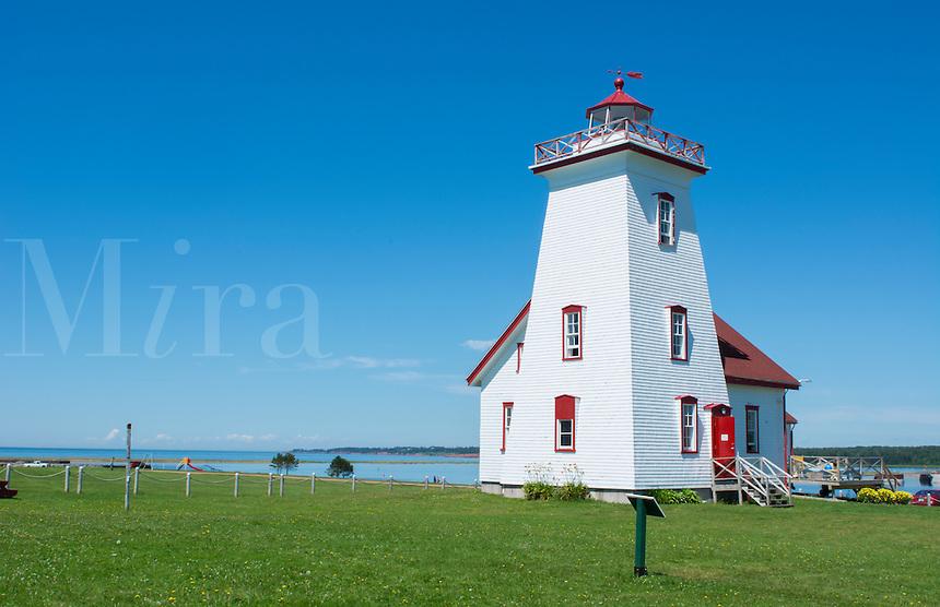 Canada Prince Edward Island, P.E.I. Wood Islands Lighthouse 1876 in summer