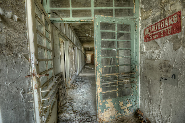 This was some labs near a power plant. The power plant was still in use but the labs had been abaoned .