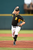 Bradenton Marauders pitcher Felipe Gonzalez (36) delivers a pitch during a game against the Charlotte Stone Crabs on April 20, 2015 at McKechnie Field in Bradenton, Florida.  Charlotte defeated Bradenton 6-2.  (Mike Janes/Four Seam Images)