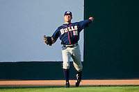 Starting pitcher Matt Moore #33 of the Durham Bulls warms up in the outfield prior to the game against the Charlotte Knights at Knights Stadium on August 2, 2011 in Fort Mill, South Carolina.  The Bulls defeated the Knights 18-3.   (Brian Westerholt / Four Seam Images)