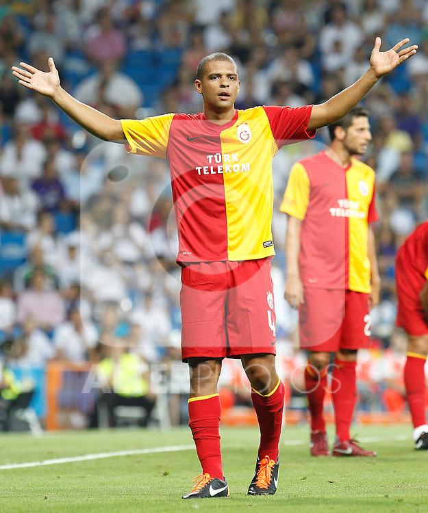 Galatasaray's Felipe Melo during Santiago Bernabeu Trophy.August 24,2011. (ALTERPHOTOS/Acero)