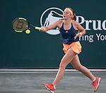 April 7,2017:  Jelena Ostapenko (LAT) defeated Caroline Wozniacki (DEN) 6-2, 6-4, at the Volvo Car Open being played at Family Circle Tennis Center in Charleston, South Carolina.  ©Leslie Billman/Tennisclix/Cal Sport Media