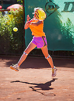 05-08-13, Netherlands, Dordrecht,  TV Desh, Tennis, NJK, National Junior Tennis Championships, Margriet Timmermans<br /> <br /> <br /> Photo: Henk Koster