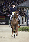 Ashley Holzer and Pop Art of Canada perform their Freestyle Dressage in the Grand Prix Freestyle Dressage competition at the Alltech World Equestrian Games in Lexington, Kentucky.