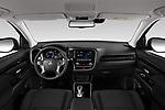 Stock photo of straight dashboard view of 2020 Mitsubishi Outlander-PHEV Business 5 Door SUV Dashboard