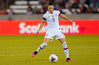 HOUSTON, TX - FEBRUARY 03: Ali Krieger #11 of the United States moves with the ball during a game between Costa Rica and USWNT at BBVA Stadium on February 03, 2020 in Houston, Texas.