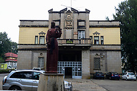 ETHIOPIA , Addis Ababa, , old smaller palace of emperor Haile Selassie, today college of law and governance  studies, University of Addis Abeba