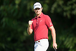 Justin Rose of England celebrates during Hong Kong Open golf tournament at the Fanling golf course on 25 October 2015 in Hong Kong, China. Photo by Aitor Alcade / Power Sport Images