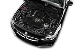 Car Stock 2017 BMW 4-Series 430i 2 Door Convertible Engine  high angle detail view