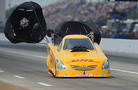 May 1, 2011; Baytown, TX, USA: NHRA funny car driver Jeff Arend during the Spring Nationals at Royal Purple Raceway. Mandatory Credit: Mark J. Rebilas-