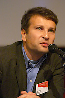 Roy Lindemann, partner of Readspeaker, at the Les Blog conference in Paris December 2005 on blogging, new media and internet strategy