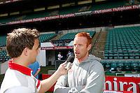 Photo: Richard Lane/Richard Lane Photography. .Emirates Airline Media training day with the England Sevens team at Twickenham. 13/05/2011. England coach, Ben Ryan is interviewed.