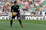 Goalkeeper Adan during the match between Real Betis and Recreativo de Huelva day 10 of the spanish Adelante League 2014-2015 014-2015 played at the Benito Villamarin stadium of Seville. (PHOTO: CARLOS BOUZA / BOUZA PRESS / ALTER PHOTOS)