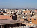 Looking over the rooftops in Marrakesh.