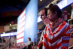 Hershey, PA, USA - Dec. 15, 2016; Supporters in the crowd at a post-election Thank You Tour 2016 rally organized by President-Elect Donald Trump and Vice-President-Elect Mike Pence, at the Giant Center in Hershey, PA.