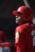 July 11 2009: Wilfredo Sosa of the Vancouver Canadians before game against the Boise Hawks at Nat Bailey Stadium in Vancouver,BC..Photo by Larry Goren/Four Seam Images